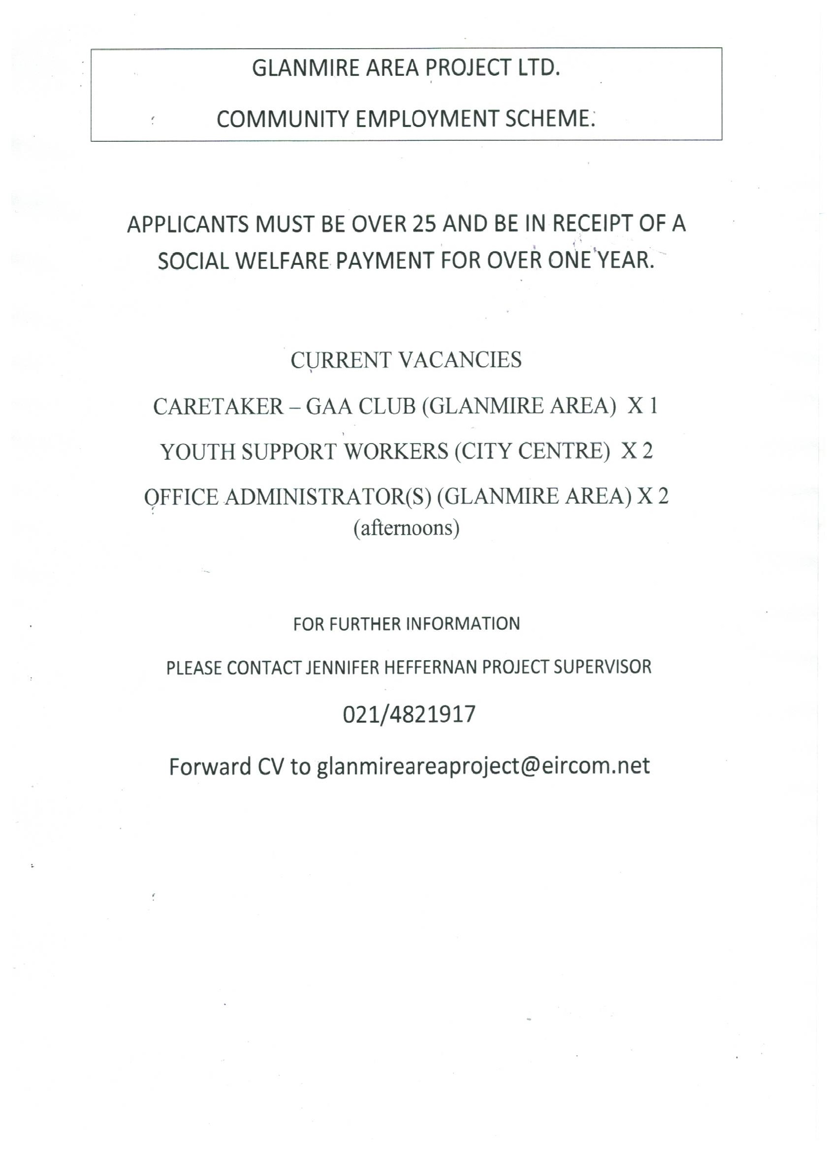 New Community Employment Positions